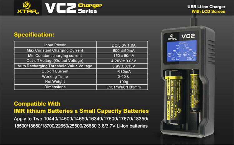 Ładowarka akumulatorów XTAR VC2